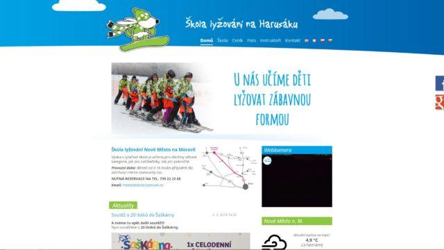 fotka Škola lyžování – web
