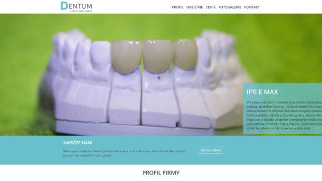 fotka Dentum, zubní laboratoř – web
