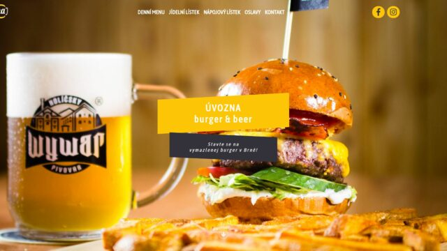fotka Úvozna Burger & Beer – web